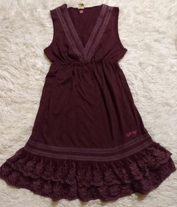 Billabong Babydoll Lace Ruffle Bottom Dress
